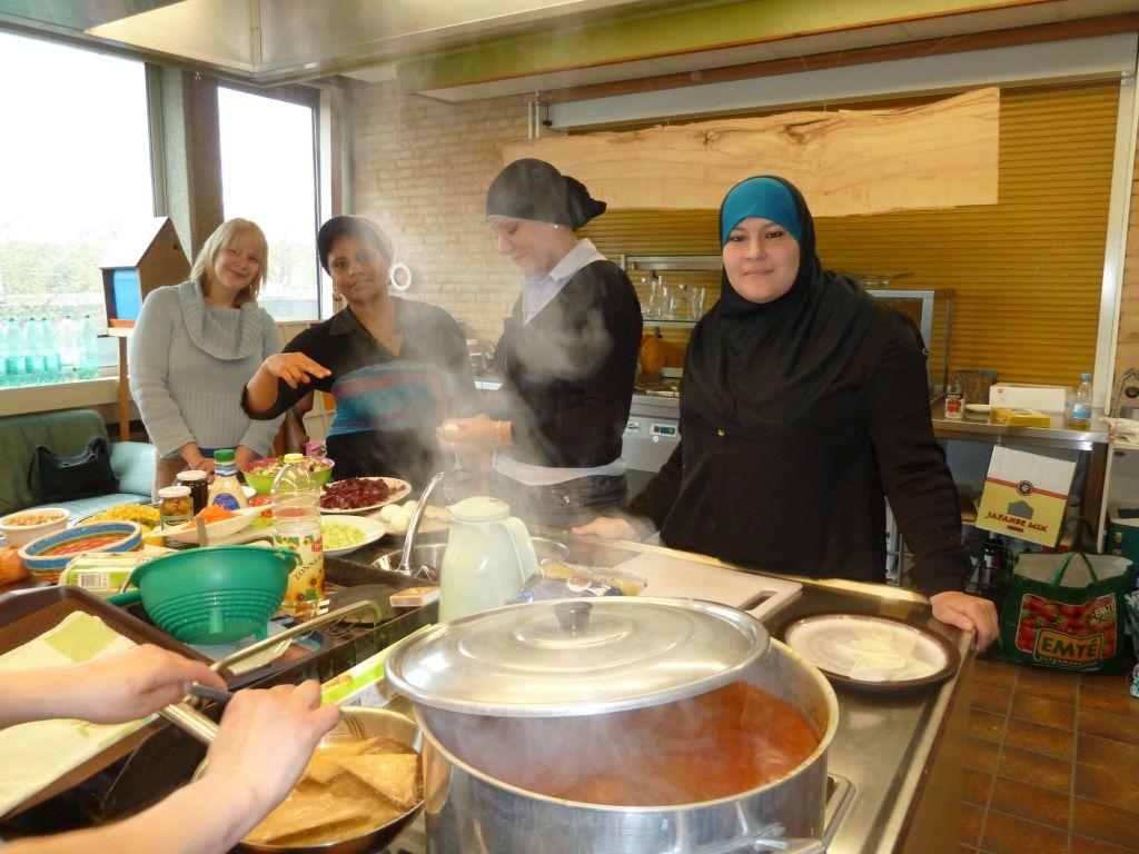 Kookteam in actie