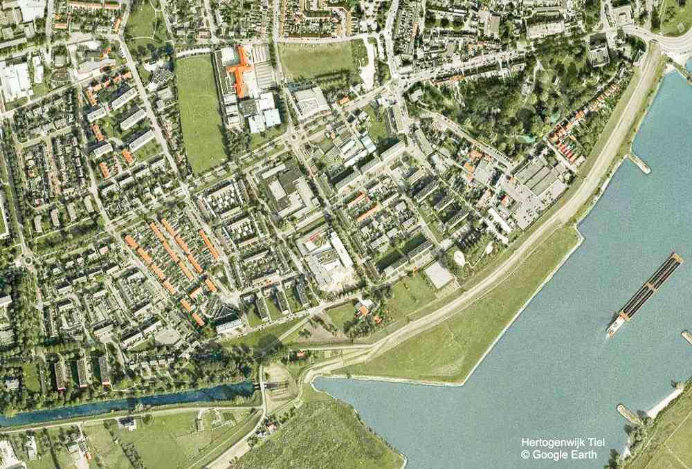 De Hertogenwijk op Google Earth