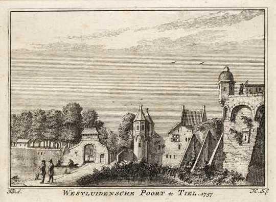 Westluidense poort, 1737